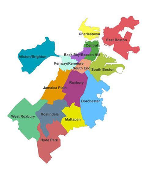 sections of boston boston neighborhoods