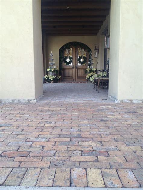 reclaimed  chicago brick paver entry hardscape