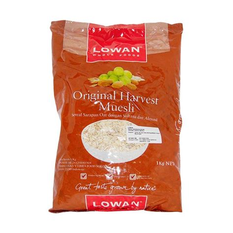 Original Harvest Muesli 1kg Lowan jual lowan oat original harvest muesli cereal 1 kg