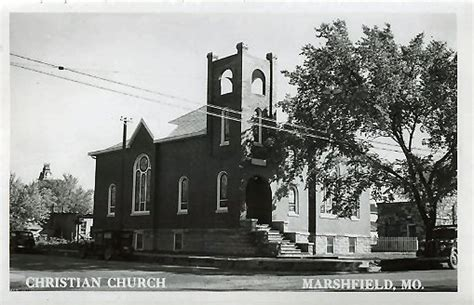 Marshfield Post Office by Christian Church Marshfield