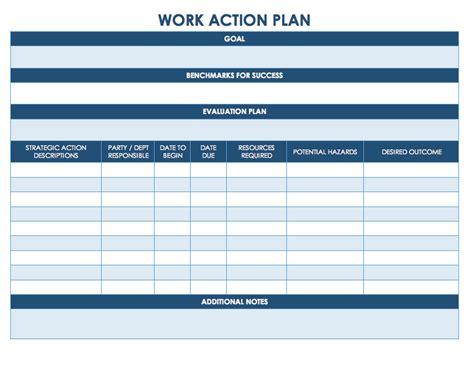 Free Action Plan Templates Smartsheet Work Plan Template Free