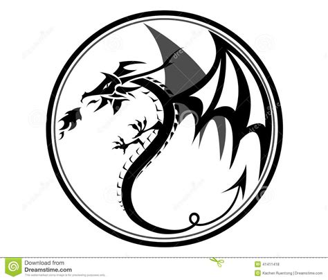 black dragon stock vector image 41411418