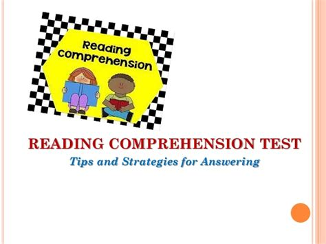 reading comprehension test strategies how to answer reading comprehension test