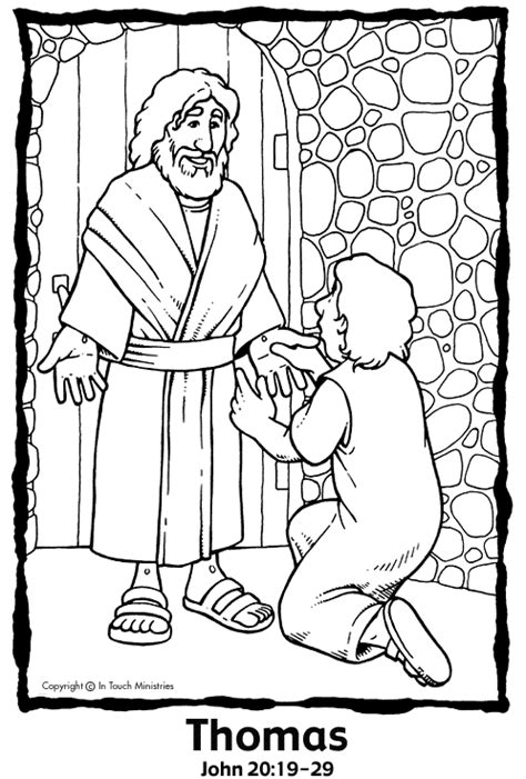 coloring pages jesus appears to the disciples sees jesus coloring page