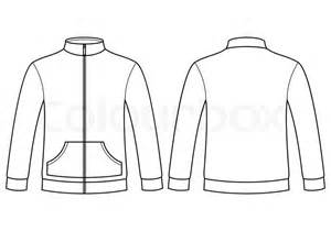 blank sweatshirt template front and back stock vector