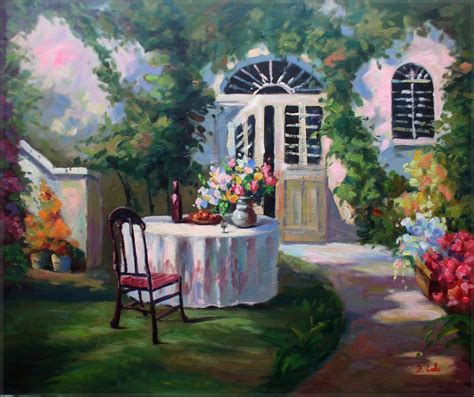 Garden Of Oils by Quality Painted Painting Garden Table Set 20x24in Ebay