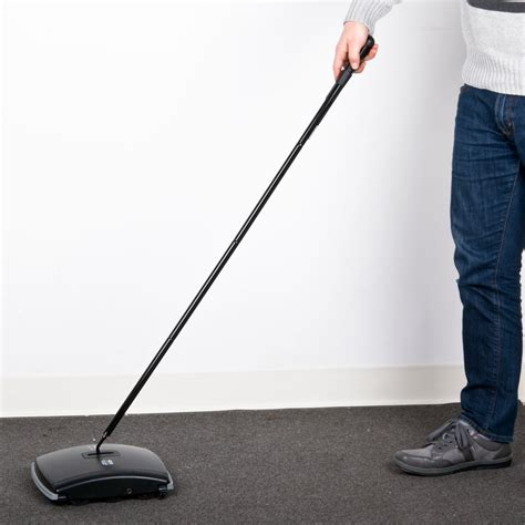 10 Inch Floor Sweeper Brush - rubbermaid fg421388bla dual brush floor sweeper 9 1 2 quot