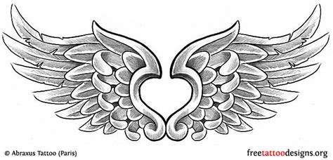 small heart with angel wings tattoo designs tattoos wings guardian and st michael
