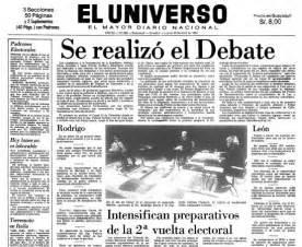 noticias el universo febres cordero y borja el debate m 225 s recordado en ecuador