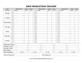printable kids medication tracking form