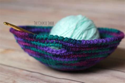 crochet pattern yarn bowl yarn bowl the cookie snob