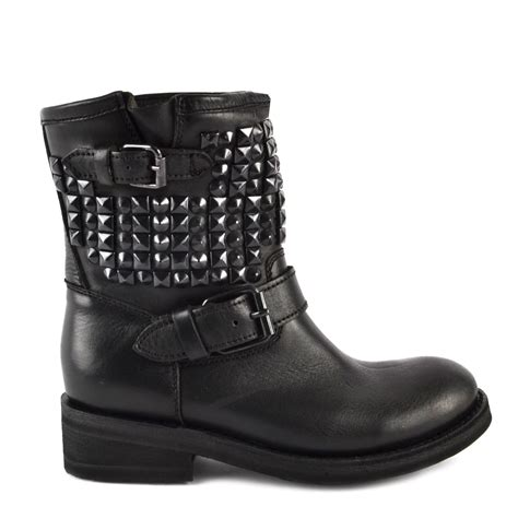 buy womens biker boots buy trap biker boots from ash footwear in black leather
