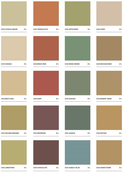oxides pigments  grey concrete colour chart