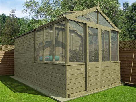 Shed Greenhouse Combination by Our New Greenhouse Shed Combo Range Dunster House