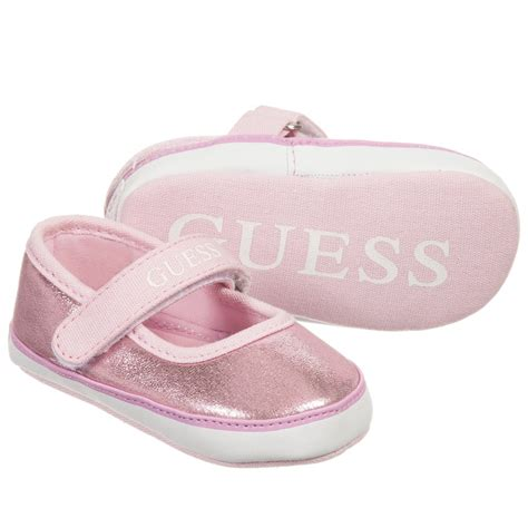 guess baby shoes guess baby glittery pink pre walker shoes