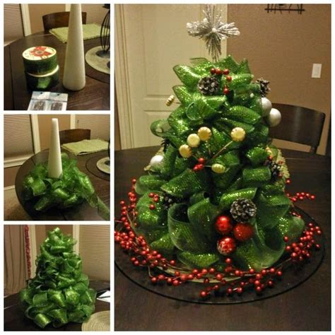 how to make a mesh christmas centerpiece pictures photos