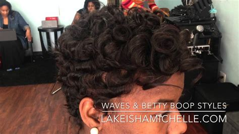 how to get loose waves in african american hair short hair cuts waves texture betty boop los angeles