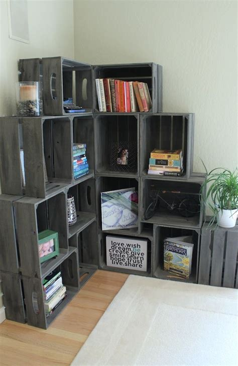 25 Best Ideas About Crate Shelves On Pinterest Crates Wood Crate Shelves