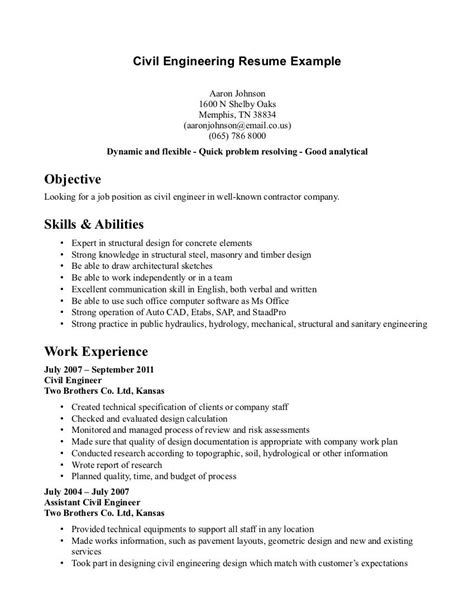 resume objective for civil engineering student civil engineering student resume http www resumecareer