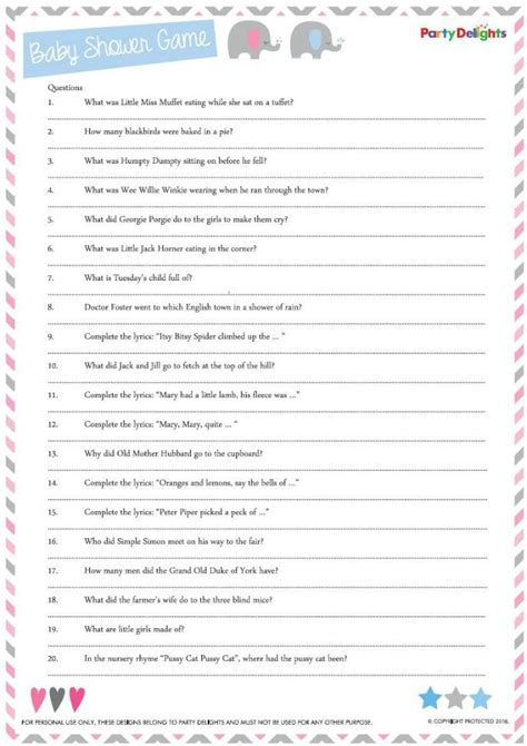 Baby Shower Questionnaire by Outstanding Baby Shower Questions 87 With Additional