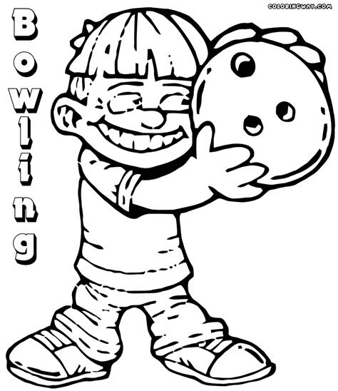 bowling pages coloring pages