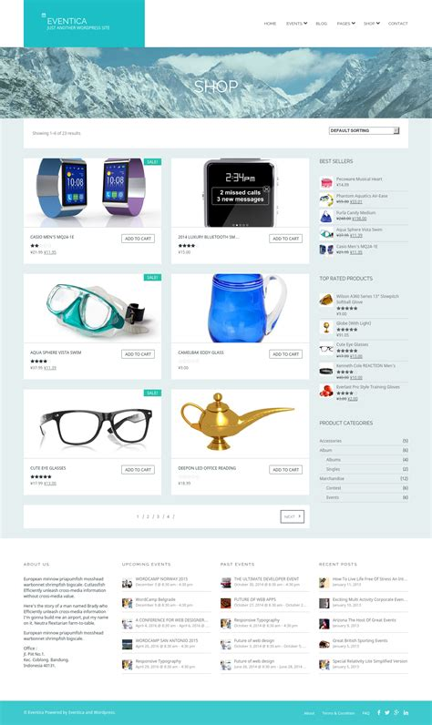 calendar theme layout eventica event calendar ecommerce wordpress theme by