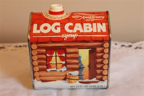 Log Cabin Syrup History by Log Cabin Syrup Tin 1987 By Ricksvintageshop On Etsy