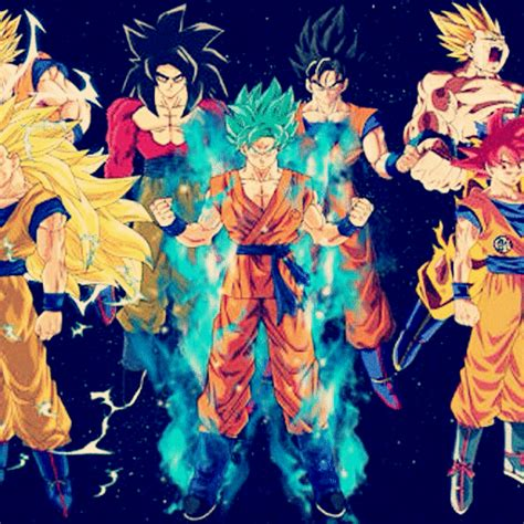 imagenes de goku transformaciones transformaciones de goku dragon ball super oficial amino