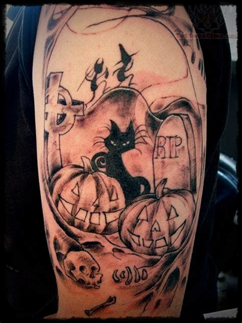 tattoo cartoon halloween halloween body tattoo designs 22
