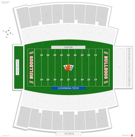 tech stadium seating capacity joe aillet stadium louisiana tech seating guide
