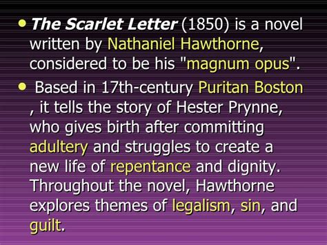 theme of the scarlet letter by hawthorne salem powerpoint
