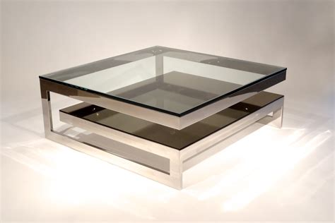 modern steel furniture mesmerizing mirrored coffee table for your living room decor and furniture adorable two tier
