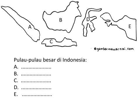 mengenal pulau besar di indonesia gambar mewarnai