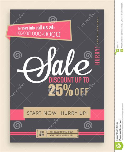 Stylish Sale Flyer Banner Or Template Royalty Free Stock Photography Cartoondealer Com 49815737 Flyer Banner Templates
