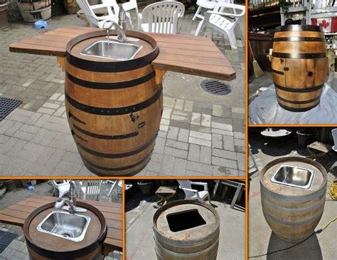 dashing diy wine barrel with 36 creative diy ideas to upcycle wine barrels wine barrel sink barrel sink and barrels