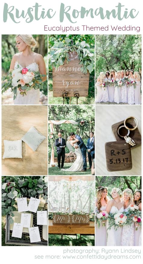 rustic eucalyptus themed garden wedding ryann photography