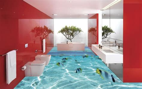 bathroom mural ideas 3d flooring ideas and 3d bathroom floor murals designs