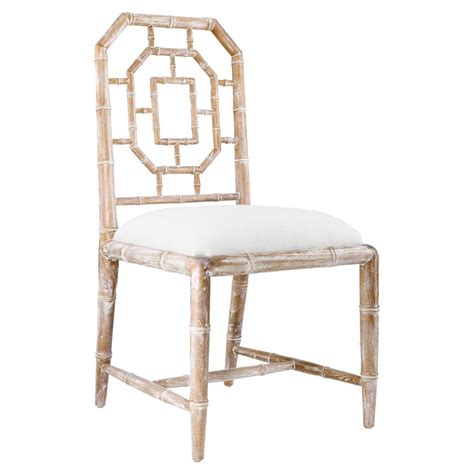 hollywood regency chair tierney hollywood regency bamboo fret beige dining chair