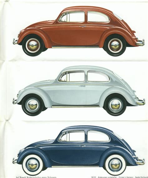 volkswagen beetle colors thesamba com vw archives 1960 vw beetle colors
