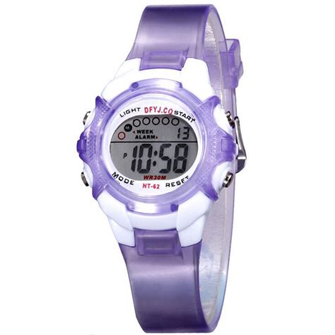 silicone band wristwatches boys waterproof