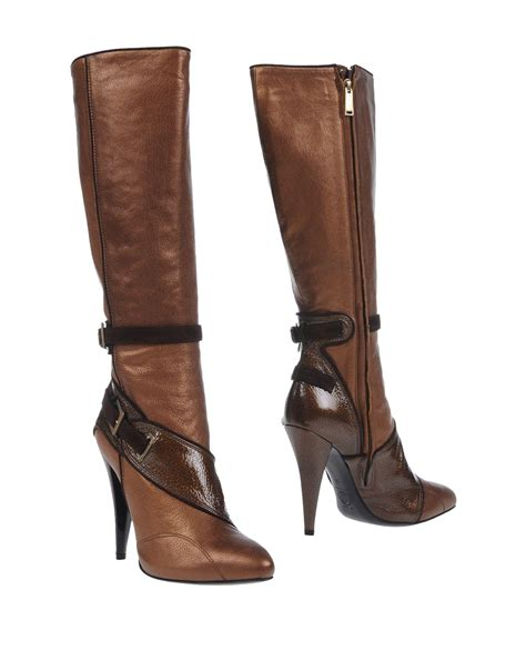 versace boots versace boots in brown lyst