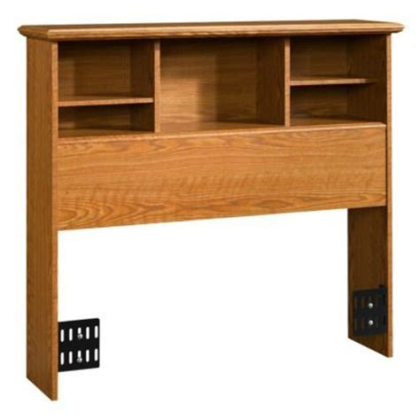 twin oak headboard sauder orchard hills bookcase headboard carolina oak twin