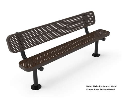 thermoplastic benches rhino 6 foot rectangular thermoplastic metal bench with