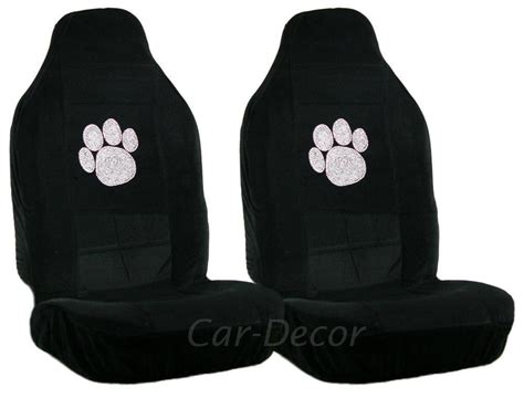 rhinestone paw print car seat covers 2 pc from car decor