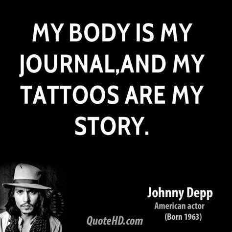 johnny depp tattoo saying body tattoos quotes quotesgram