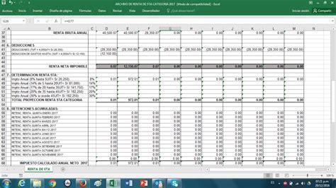 calculo quinta categoria 2016 calculo renta de 5ta 2016 ejemplo calculo 5ta categoria