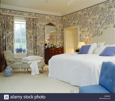 matching wallpaper and curtains next blue white wallpaper and matching curtains in country