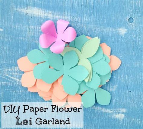 hawaiian paper flower tutorial best 25 flower lei ideas on pinterest luau party favors
