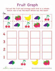 cut out graph fruit worksheet education com