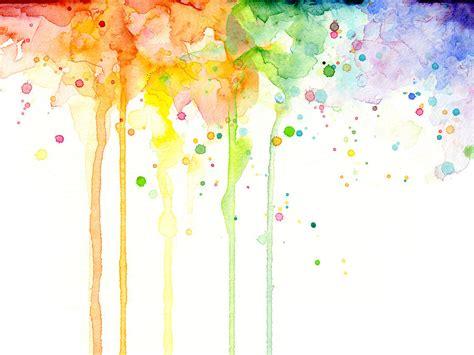 watercolor rainbow painting by olga shvartsur